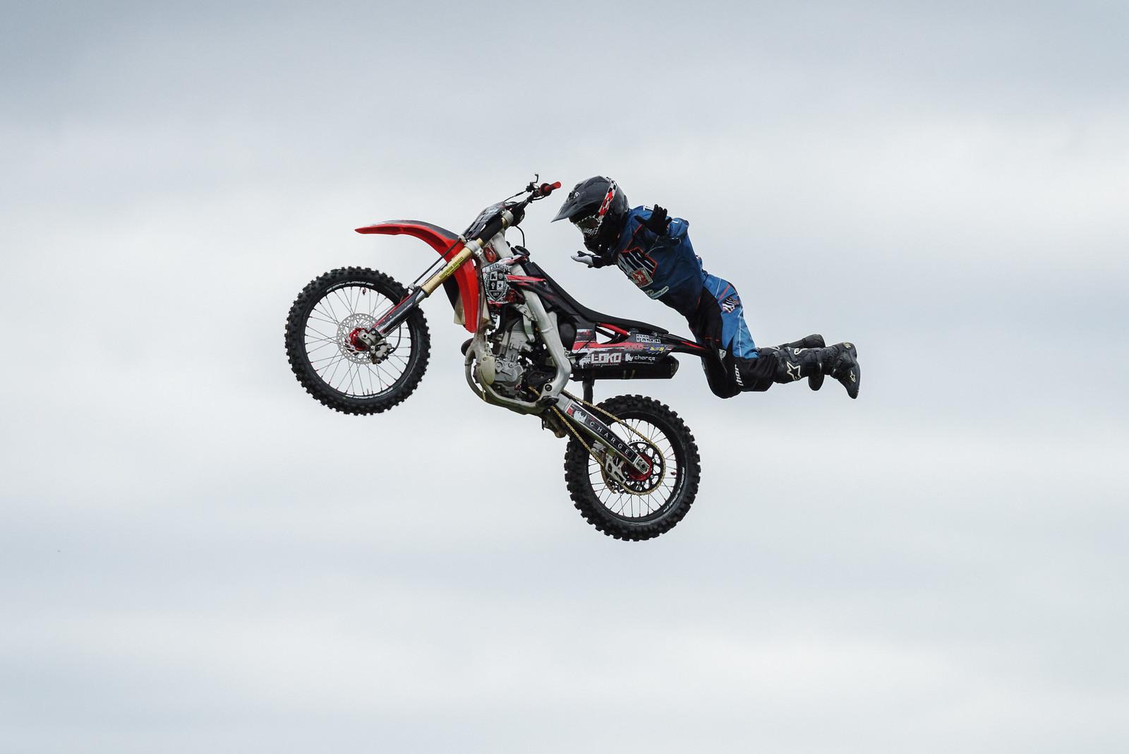 Superman and his bike