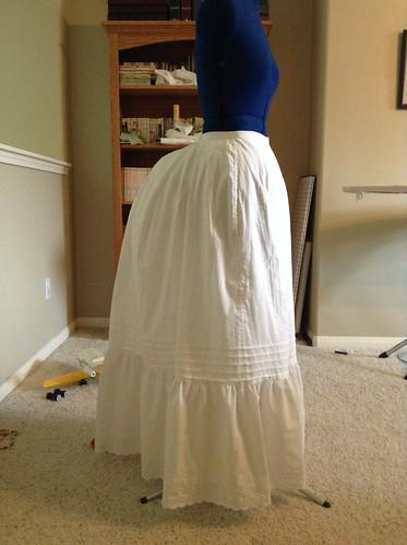 1880's Flounced Petticoat