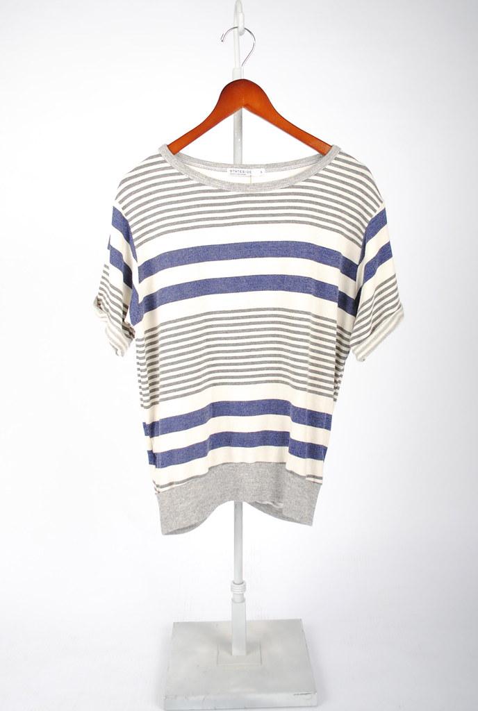 Ruched Back Sweatshirt Top