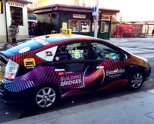 Toyota Prius taxi - Vienna, Austria (Eurovision 2015)
