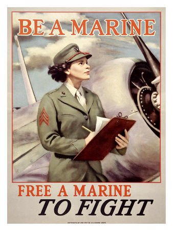 World War II Poster - Free A Marine To Fight