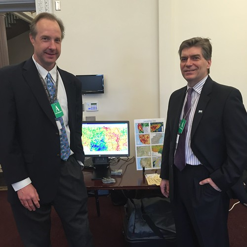 Eric Luebehusen and Mark Brusberg, from USDA's Office of the Chief Economist at White House Water Summit