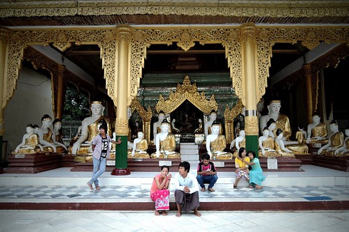 At Shwedagon Pagoda in Myanmar