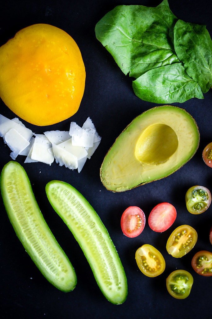 Mango, Avocado, Cucumber, and Cherry Tomato Salad | Things I Made Today