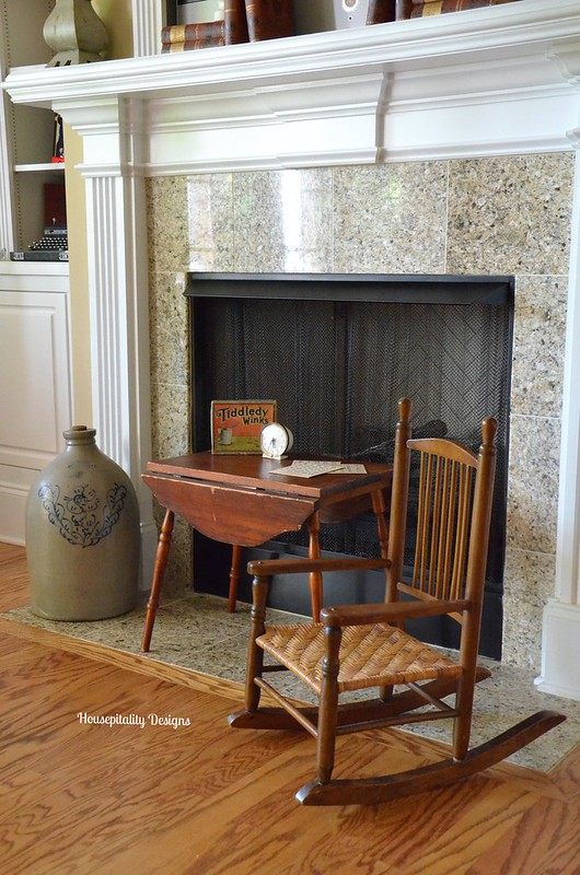 Vintage table and rocker-Housepitality Designs