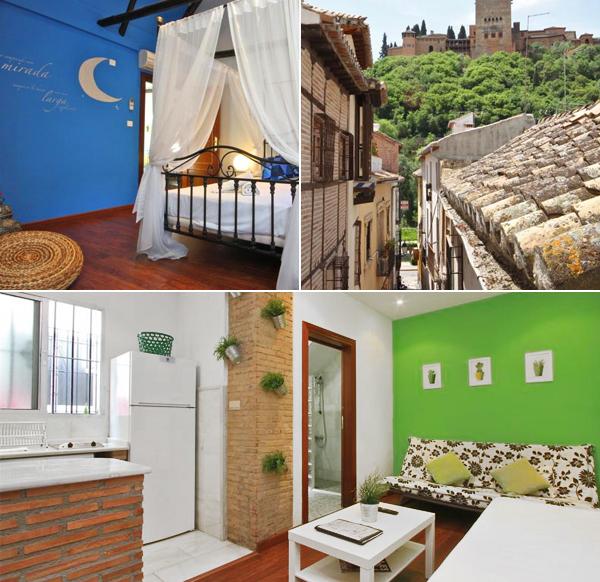 Apartamento junto al paseo de los tristes de Granada y sus habitaciones de colores
