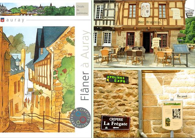 Auray (Morbihan, Bretagne) - Historisches Stadtzentrum, Kirchen, Hallen, Restaurants, Künstlerateliers, Fachwerkhäuser ... Impressionen / Fotos, Fotocollagen: Brigitte Stolle 2016