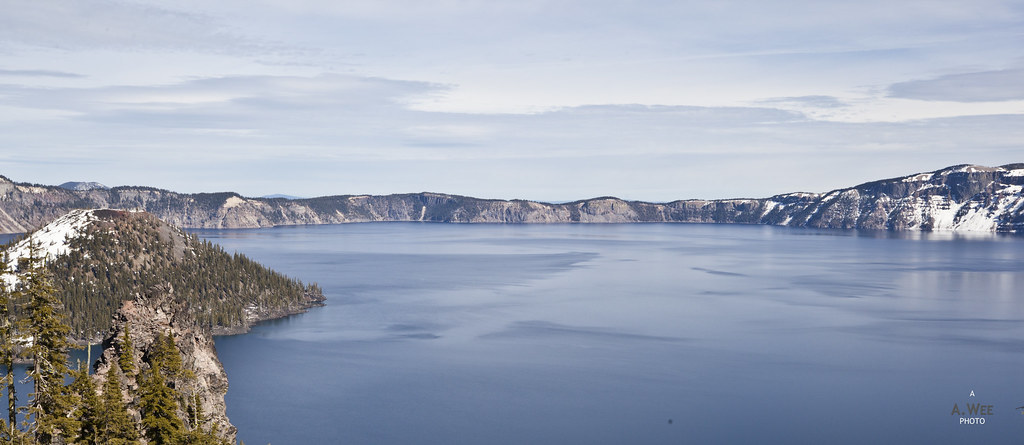 Blue hue of the lake
