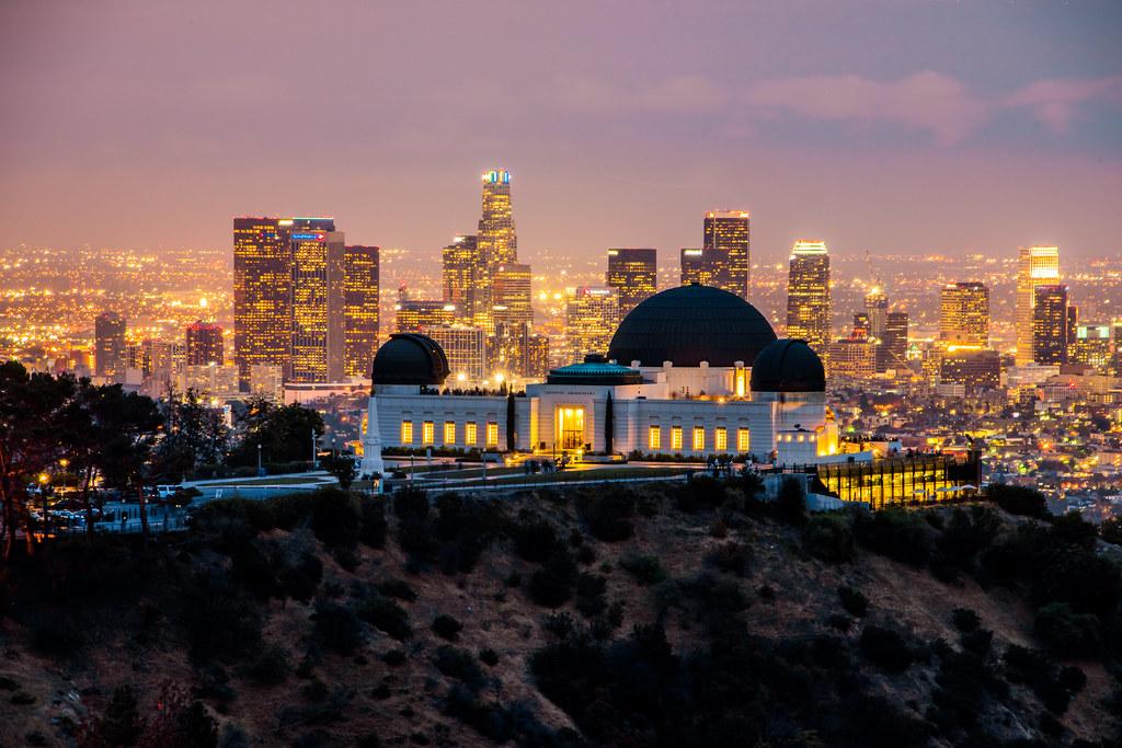 Sunset Amp Dusk The Griffith Observatory Amp Los Angeles Skyli