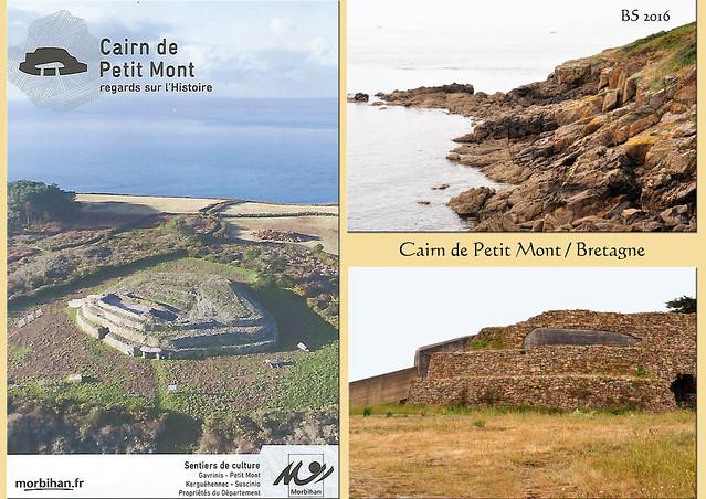 Cairn de Petit Mont - Arzon - Rhuys-Halbinsel - Bretagne - Megalithkultur - Tumulus Hügelgrab Grabhügel Menhir Dolmen - Steinzeit Jungsteinzeit - Fotos: Brigitte Stolle 2016