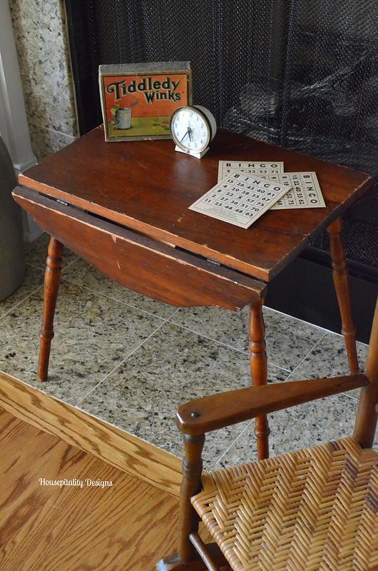 Vintage child's drop leaf table-Housepitality Designs