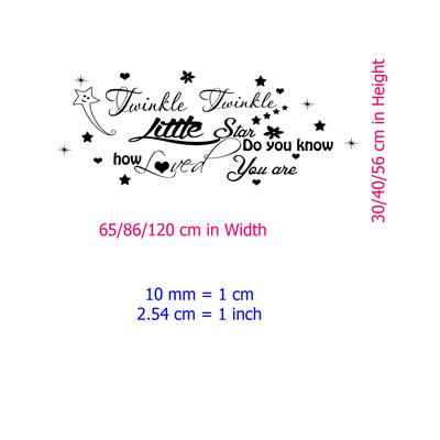 twinkle twinkle little star baby wall sticker quote twinkle twinkle little star wall sticker decals