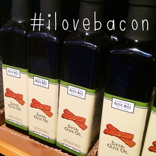 So many options - even bacon!!! What to do with this one? How about drizzled over popcorn?? #ilovebacon @queencreekolivemill #arizona #AzEats #azfood #AzFoodie
