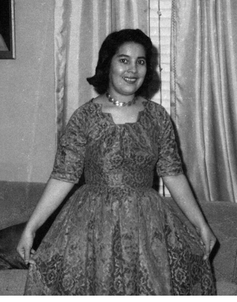Delores posing in dress in living room - Copy (2)