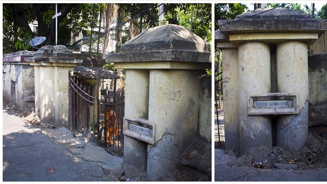 Entrance of Greek Cemetery Kolkata
