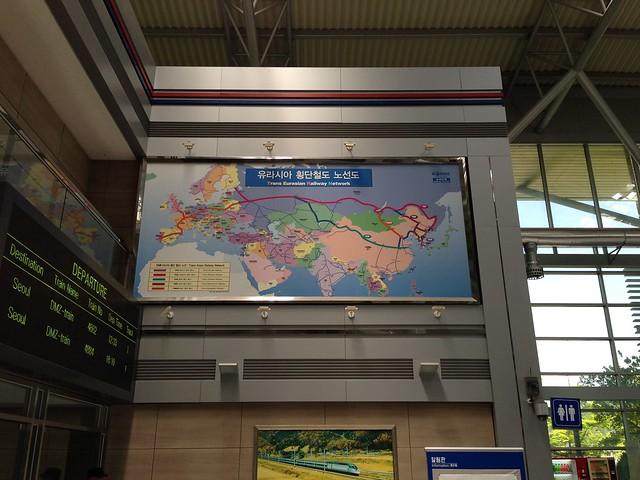 Map of Trans Eurasian Railway Network