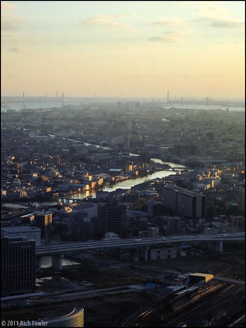 Last look at the Nagoya Skyline.