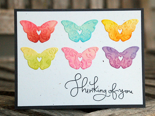 Jennifer Kinney_embossed rainbow butterflies01