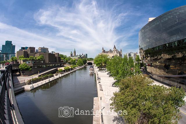 Rideau Canal in summer fisheye