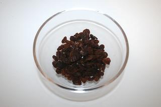 02 - Zutat Rosinen / Ingredient raisins