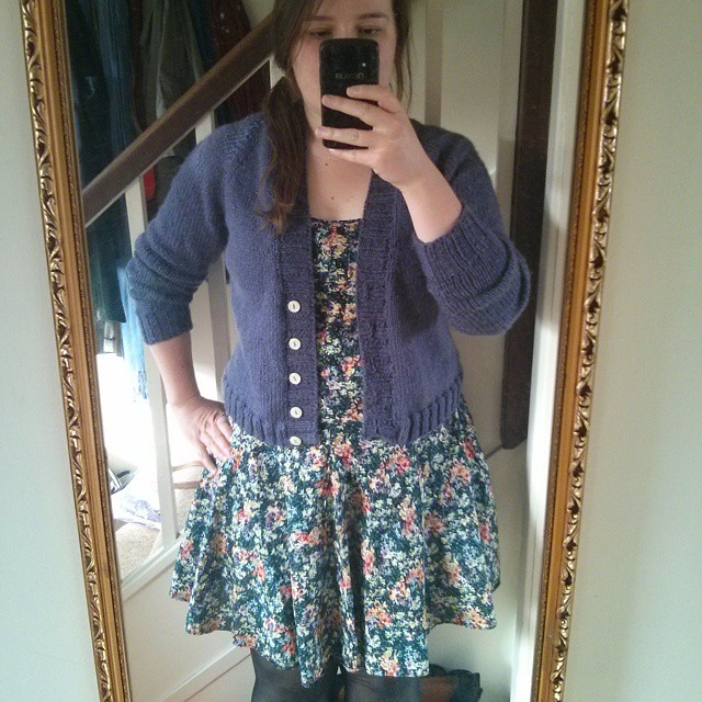 #mmm15 day 9 - purply boyfriend cardigan & RTW dress for an afternoon of dumpling-making