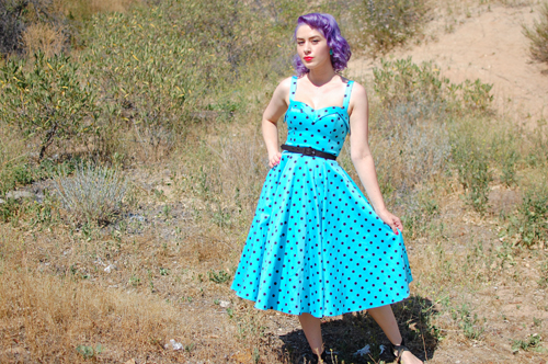 Pinup Girl Clothing Deadly Dames Downtown Dame Swing dress