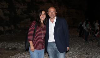 Il sindaco Vitto e la popolare cantante Paola Turci che cerca casa a Polignano