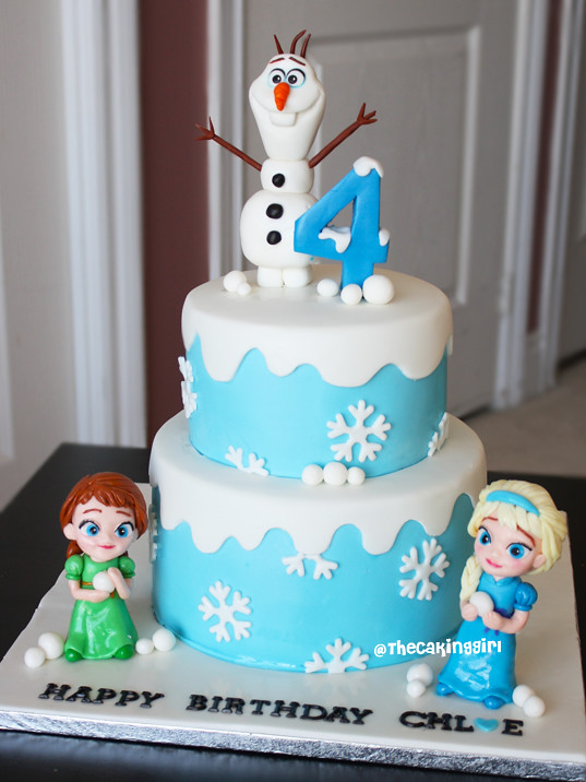 Childhood frozen anna elsa cake olaf figurine tutorial ww