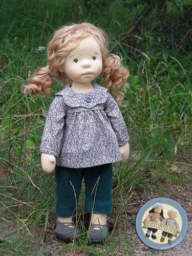 Marlena - natural fiber art doll / 20 inch