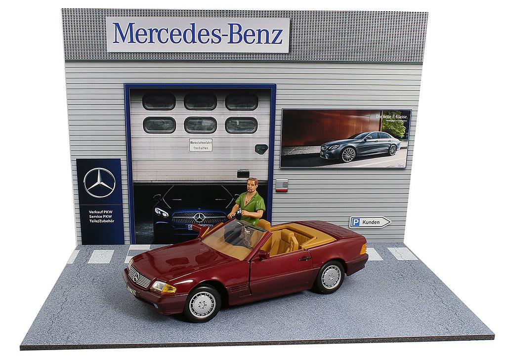Diorama pr sentoir garage mercedes benz 1 18 me for Garage mercedes auxerre 89