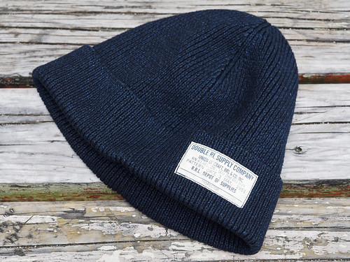 RRL / Black Indigo Cotton Watch Cap
