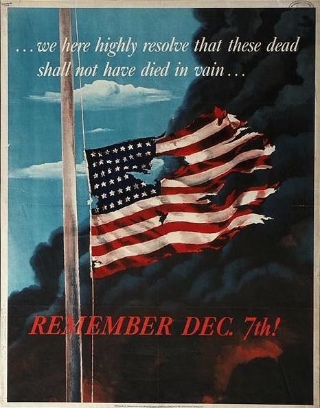 World War II Poster - Pearl Harbor Attack