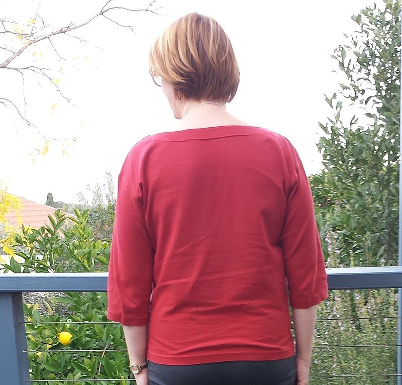Liesl + Co Maritime Knit top in rayon from Darn Cheap Fabrics