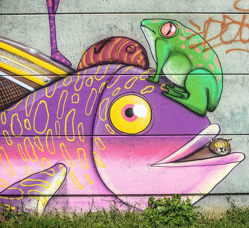 Evry Daily Photo - Fresque Murale Cranio - Evry