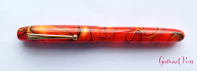 Review Edison Collier Persimmon Swirl Fountain Pen @EdisonPenCo @CouronneDuComte (4)