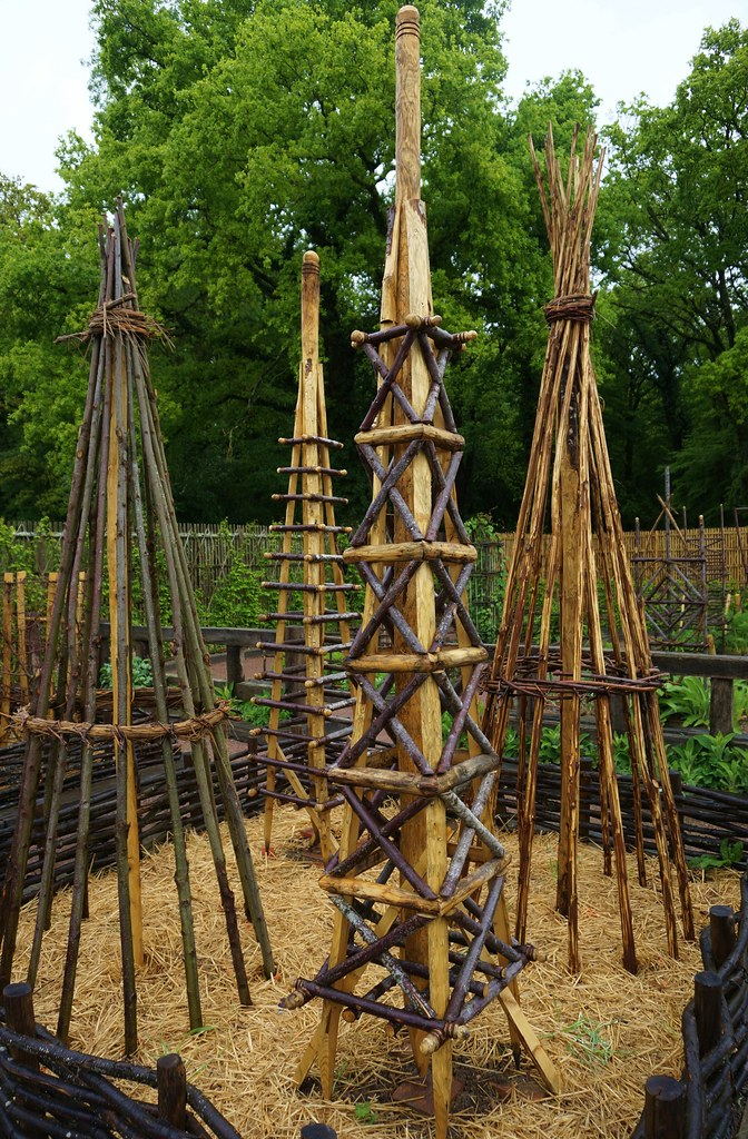 Unusual Plant Supports Made Of Wood Karl Gercens Flickr