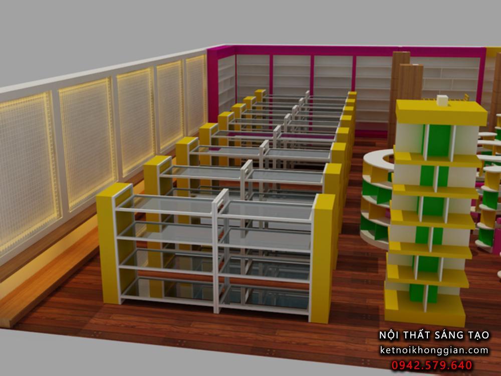 thiết kế nội thất nhà sách cao cấp