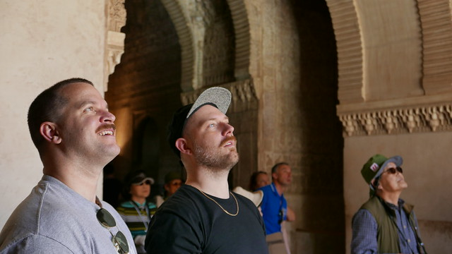 Rob and Clayton at the Alhambra.