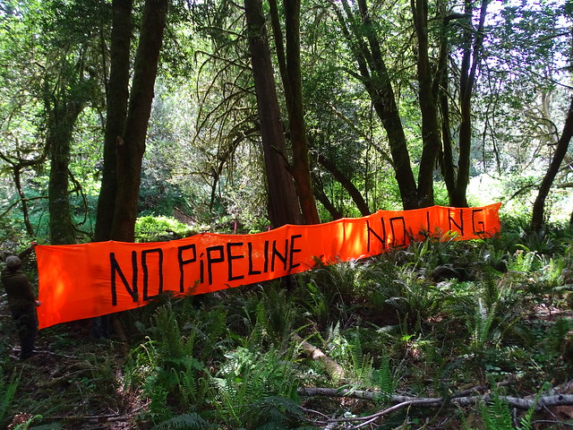 photo of Jordan Cove and Pacific Connector Pipeline protest