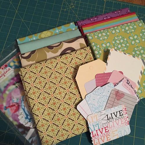 131:365 Beautiful fabrics from @portabellopixie destash. Thanks Sandi!