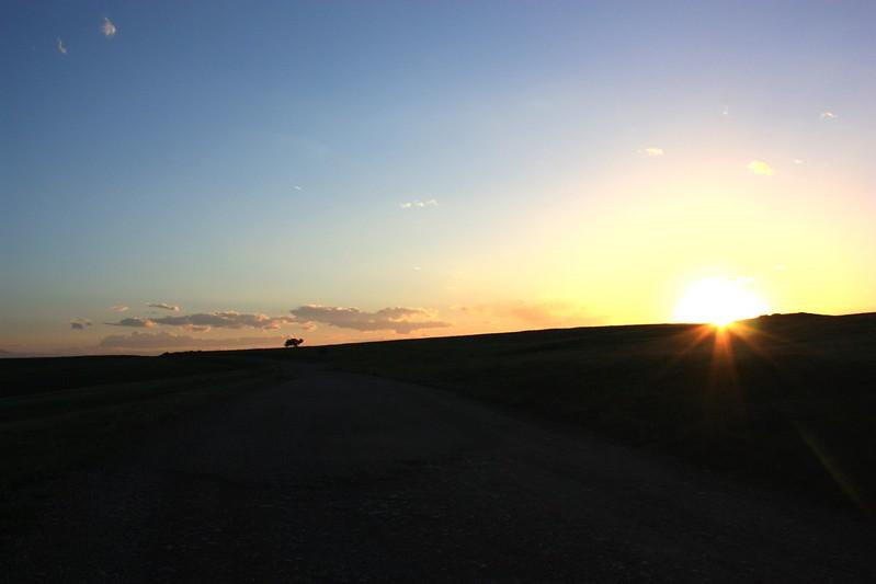 Закат в Давид-Гареджи