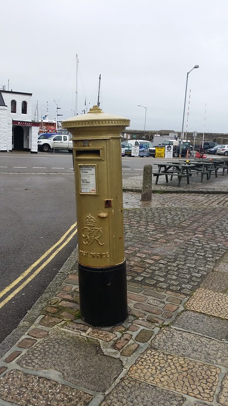 Helen Glover's gold post box. Could do with a luck of paint, but I guess it'll be redone next year judging by her current form #sh