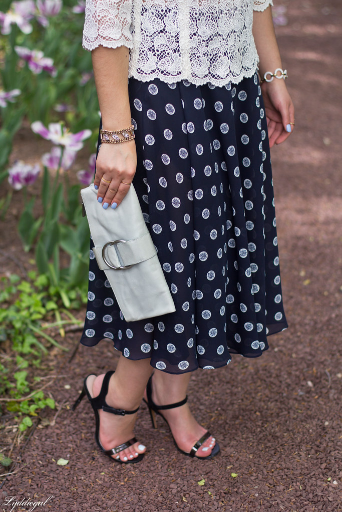 lace top, navy polka dot midi skirt-1.jpg