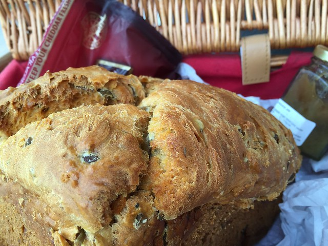 Olive no yeast easy bake bread
