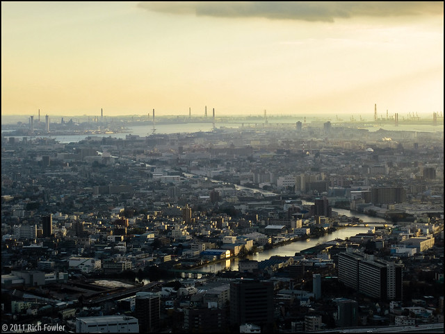 Nagoya Skyline from the Midland Square Building.