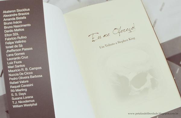 Resenha, livro, Eu me ofereço! Um tributo a Stephen King, antologia, contos, terror, Illuminare, RoMierling, autores, opinião,