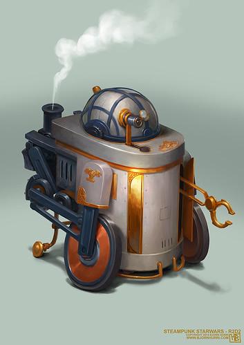 Steampunk Star Wars by Bjorn Hurri - R2-D2