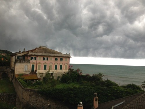 storm clouds the italian riviera