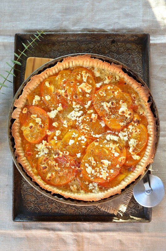 Tarte à la tomate ananas et feta