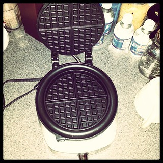 FINALLY! #NewWaffleIron #waffles #Yum